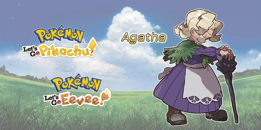 pokemon lets go superquattro agatha