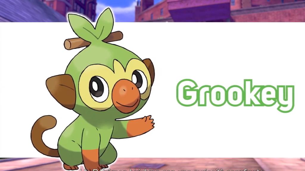 grookey pokemon ottava generazione