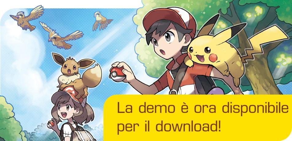 Scarica gratis la demo di Pokémon Let's Go Pikachu e Let's Go Eevee