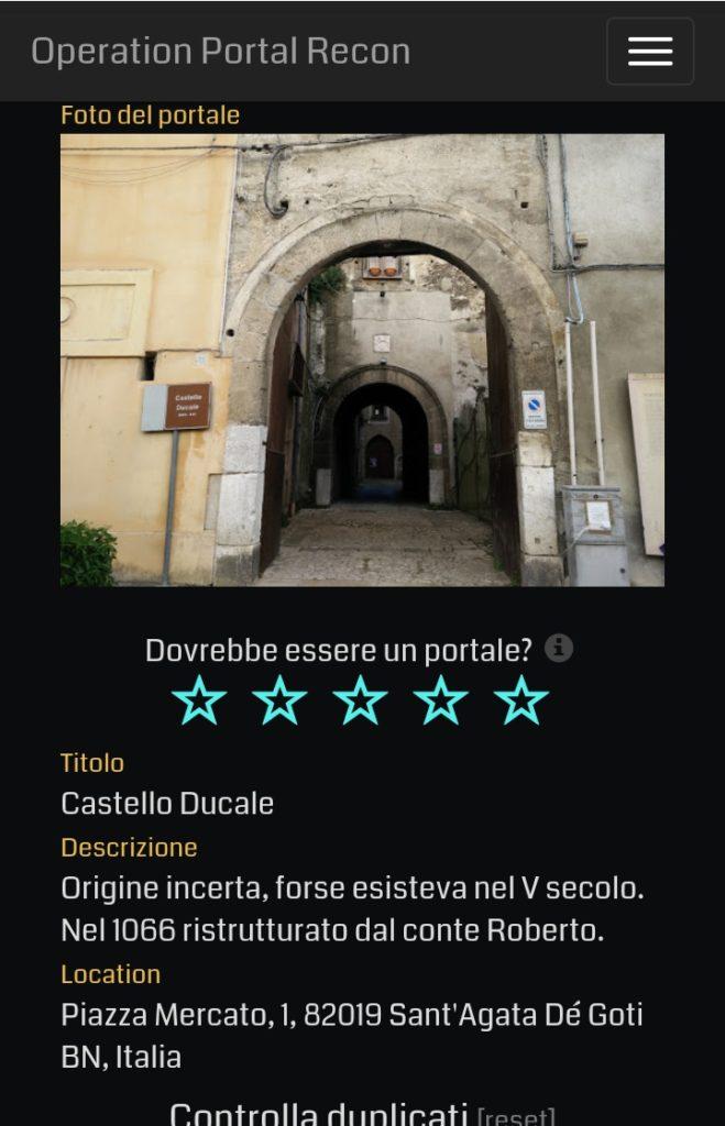 valutazione pokéstop e portale