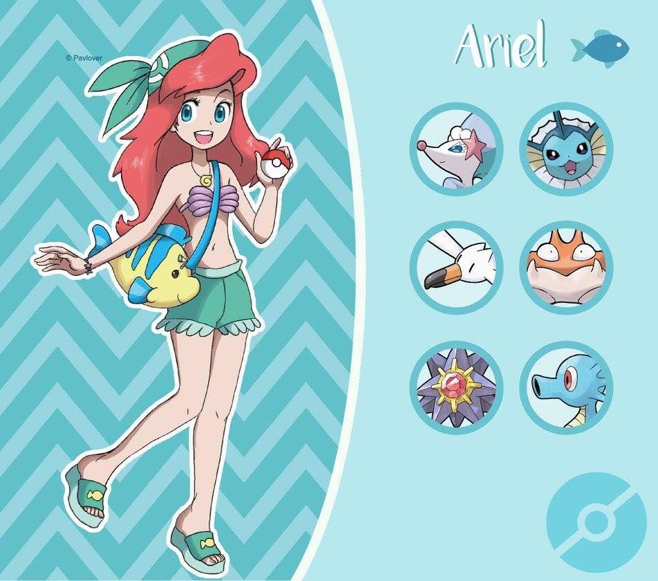 arial pokemon disney