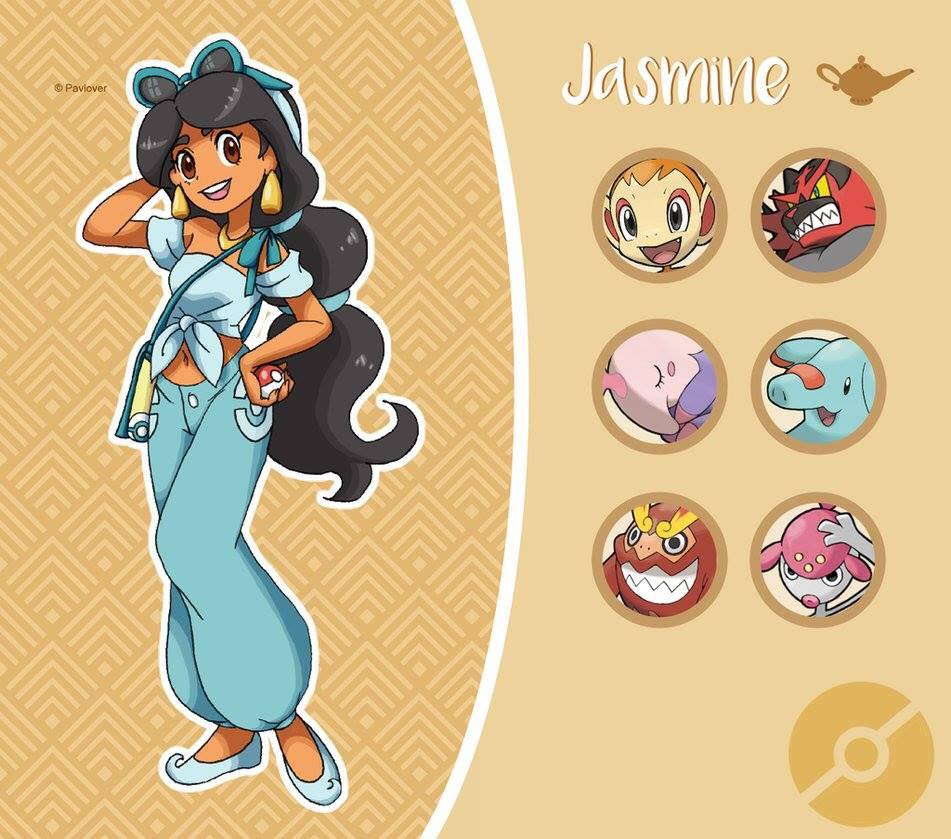 jasmine pokèmon disney