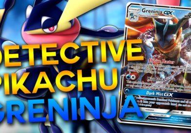 Mazzo Greninja GX Detective Pikachu del gioco di carte collezionabili pokémon