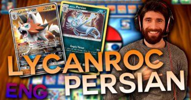 Mazzo Alolan Persian Lycanroc GX – Gioco di carte collezionabili Pokémon