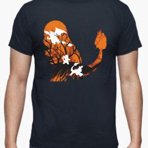maglietta charmander evoluzione fuoco tostadora