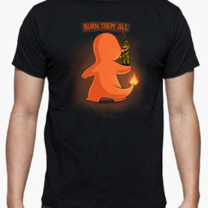 maglietta pokemon charmander bruciali tutti