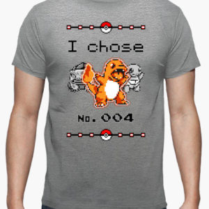 maglietta pokemon scegliere charmander tostadora